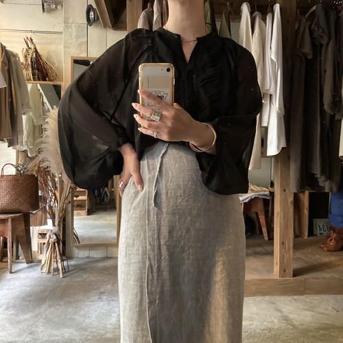 Dolman-sleeve sheer shirt