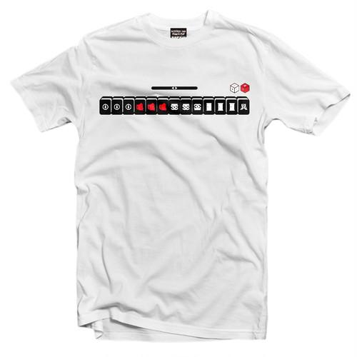 """雀T-shirt """"四暗刻単騎待ち"""" WHITE"""