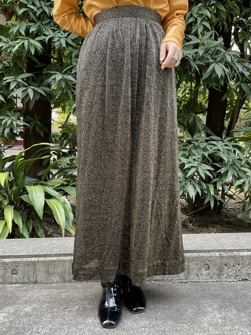 (TOYO) lame flare skirt