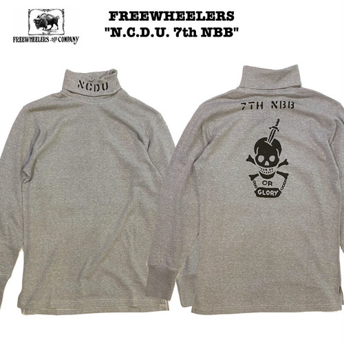 """N.C.D.U 7TH NBB"" TURTLENECK LONGSLEEVE SHIRT MIX GRAY / FREEWHEELERS"