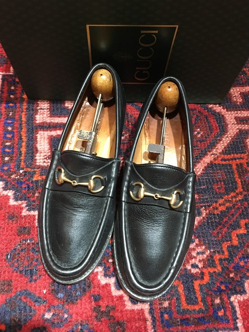 .GUCCI LEATHER HORSE BIT LOAFER MADE IN ITALY/グッチレザーホースビットローファー 2000000043395