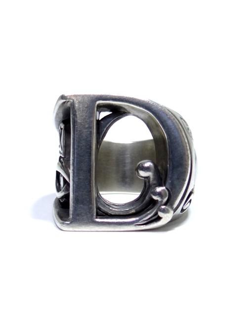 alphabet ring#D (silver925) - アルファベットモチーフ リングD-