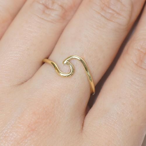 『ビッグウェーブ』Brass(真鍮)製 オリジナルリング No.10