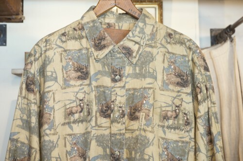 00's OUTDOOR LIFE deer printed cotton Shirt