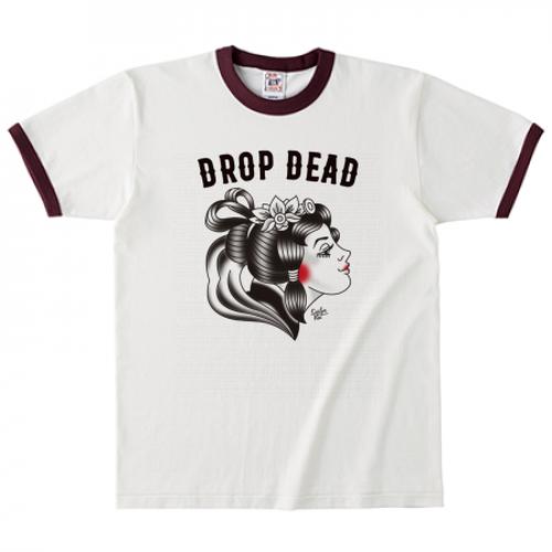 DROP DEAD リンガーTシャツ