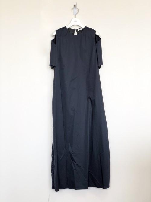 BACK PLTD DR / A   PUPIL バックプリーツドレス