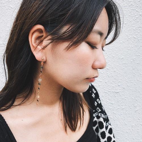 dot line pierce/earring