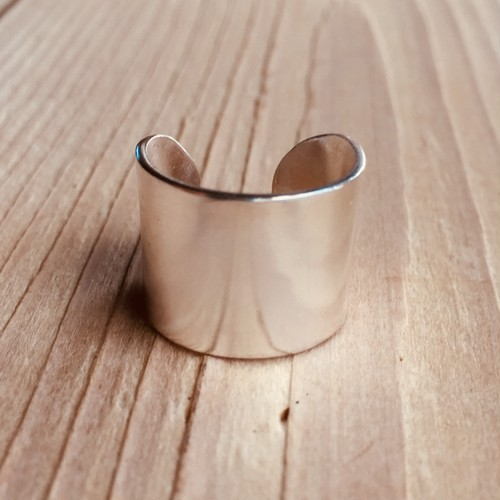 Simple wide ring   Silver