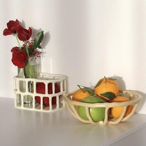 retro fruits basket / ヴィンテージ レトロ フルーツ バスケットトレー 韓国 北欧 雑貨