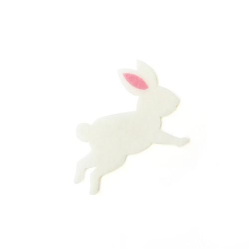 アイロン接着フェルトアップリケ(ウサギ)