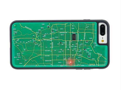 FLASH 京都回路地図 iPhone7/8Plus ケース 緑【東京回路線図A5クリアファイルをプレゼント】
