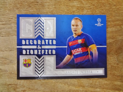 アンドレス・イニエスタ No. DD-Al 2015-16 TOPPS UEFA CHAMPIONS LEAGUE