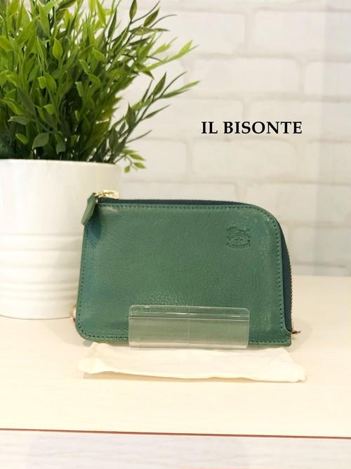 IL BISONTE/ガマ口三つ折り財布/4540(グリーン)