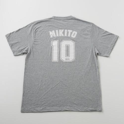 MIKITO Tシャツ 背番号「10」ver. ヘザーグレー