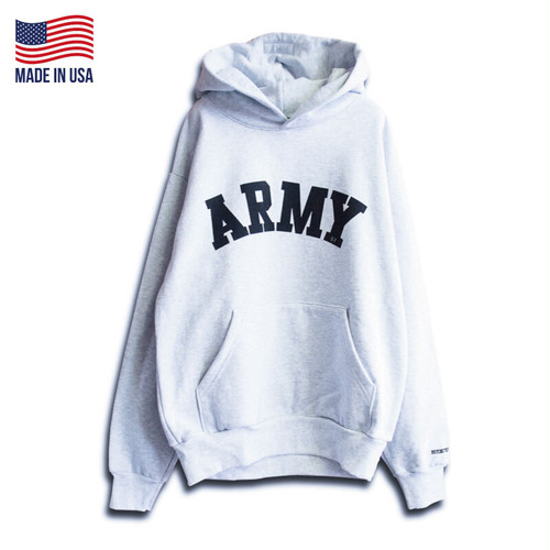 """【BUYING TRIP】""""ARMY"""" HEAVY WEIGHT PULL OVER HOODIE (ASH GRAY)"""