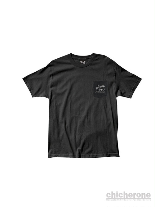 【THE QUIET LIFE】METAL POCKET T PREMIUM  BLACK