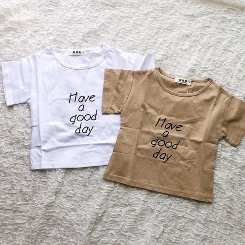 キッズ have a good day ロゴTシャツ