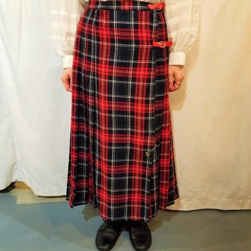 Tartan Check Kilt Skirt [K-640]