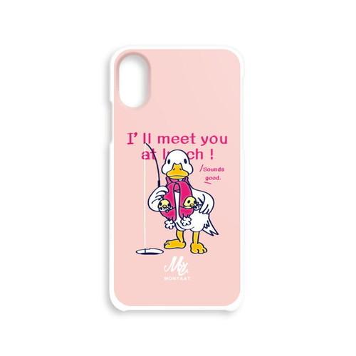 iPhone*ハードケース*あひるのおひるさんのサカナ釣り*8HHCT76*ピンク