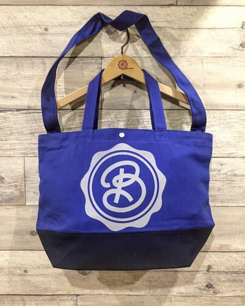 for Classics:CIRCLE LOGO  / COBALTBLUE / NAVY / BiCOLOR BODY / GRAY PRINT : DBKFC-BAG / 2WAY SHOULDER TOTE