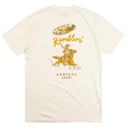 SEAGER #Ramblin Variety Show Tee Off-White