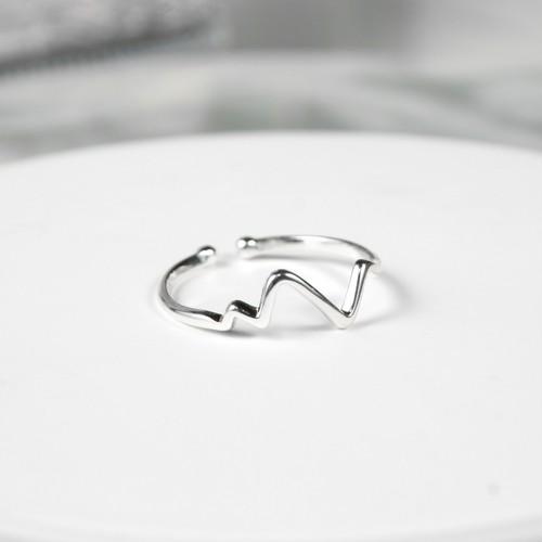 ハートビートリング | 指輪 | 華奢リング | シルバー925 | レディース | 金属アレルギー