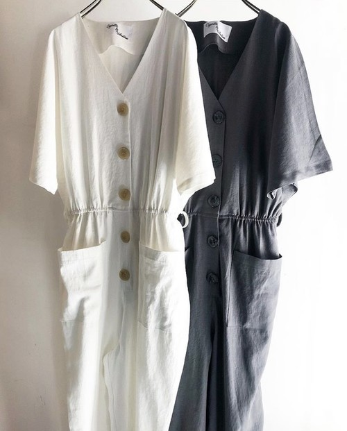 """C&V"" Linen&Cotton jumpsuit"