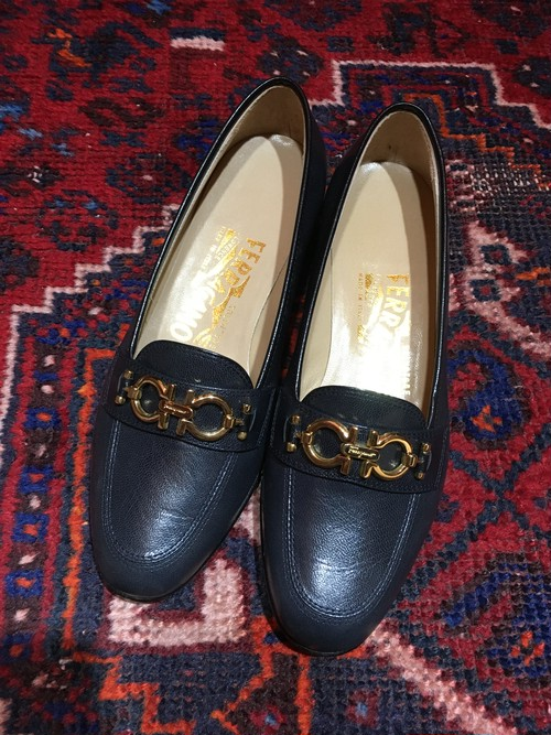 .Salvatore Ferragamo GANCHINI LOGO LEATHER PUMPS MADE IN ITALY/サルヴァトーレフェラガモガンチーニロゴレザーパンプス 2000000033303