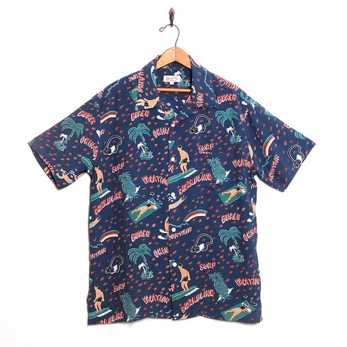 Mountain Men's アロハシャツ  VACATION / Navy
