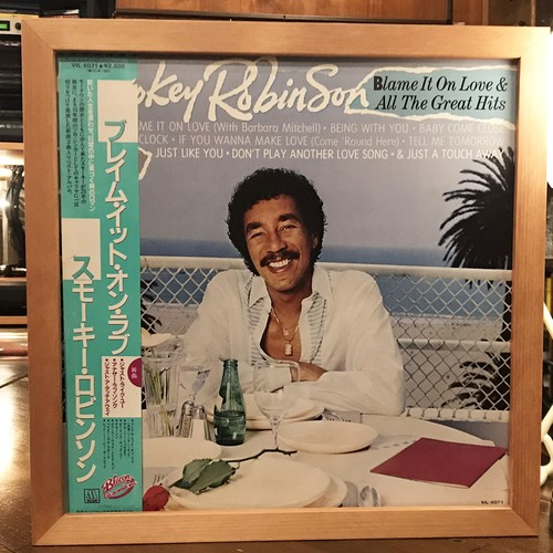 Smokey Robinson ‎– Blame It On Love & All The Great Hits (LP)