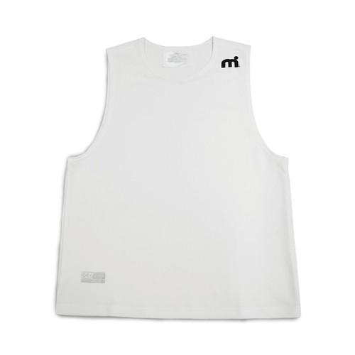 ミストラル メンズ【HP-DRY(ハイドロフォビックドライ)ノースリーブシャツ】WHITE