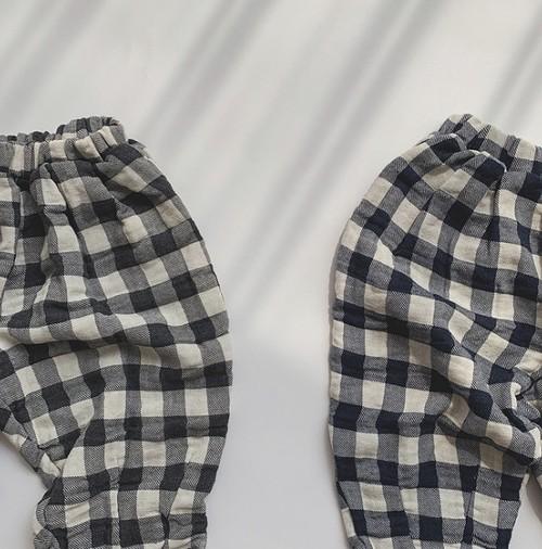【即納】relax check pants