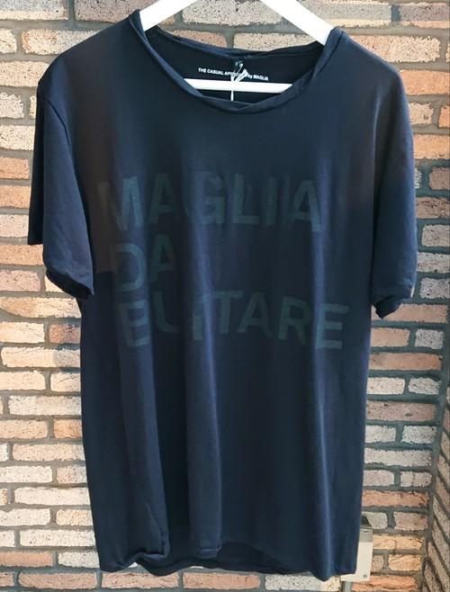 MAGLIA(マリア) Tシャツ T-041B クルネック ブラック