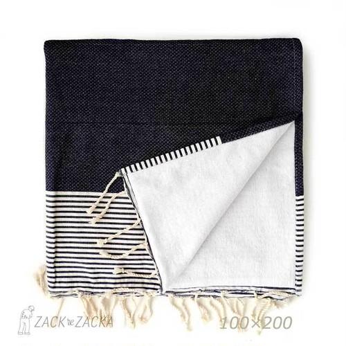 バブーシュ・大判ハニカム織りマルチクロス・ビーチタオル・裏面パイル重ねフータ/チュニジア製