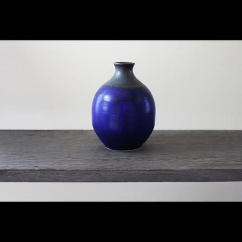 陶芸作家【中川智治 Potter Ash Field】 徳利 Sake Bottle 一輪挿し Flower Vase(Blue×BLK×Gold)