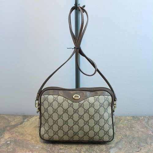 .OLD GUCCI GG PATTERNED SHOULDER BAG MADE IN ITALY/オールドグッチGG柄ショルダーバッグ 2000000034263