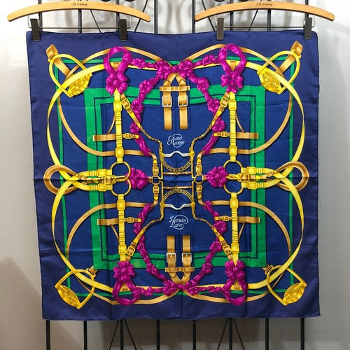 .HERMES CARRES90 SCARF GRAND MANEGE LARGE SIZE SILK 100% SCARF MADE IN FRANCE/エルメスカレ90大調教術シルク100%大判スカーフ 2000000033495