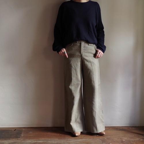 Flare Pants / ネップ生地 フレアーパンツ