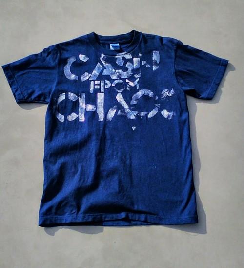 藍染めTシャツ cash from chaos