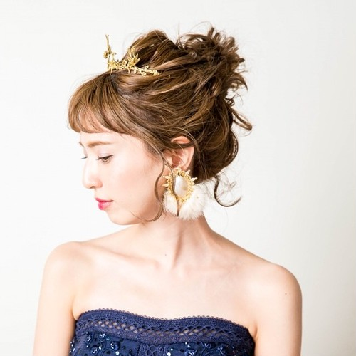 Sweet Campbell 4th Collection(ファーイヤリング・ホワイト)