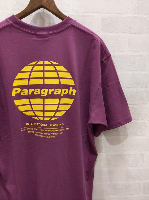Paragraph 地球ロゴ S/S TEE MAROON