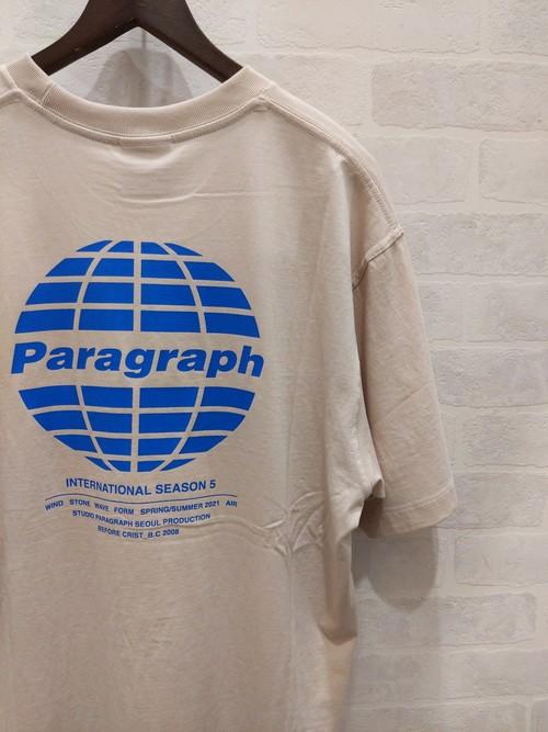 Paragraph 地球ロゴ S/S TEE BEIGE