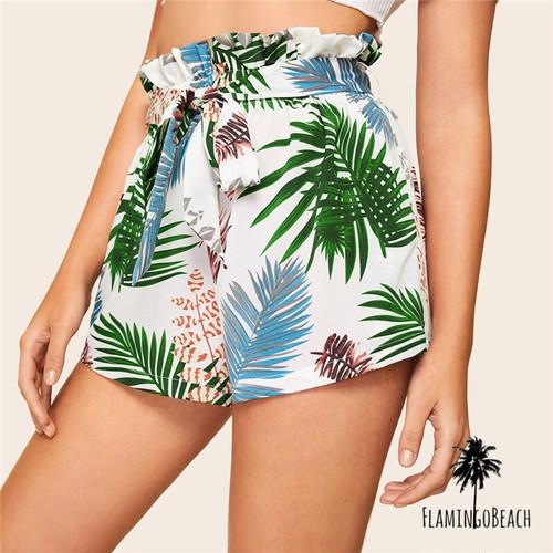 【FlamingoBeach】leaf short pants ショートパンツ 43811