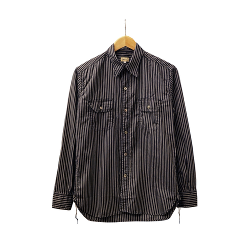 WORK SHIRT WITH ELBOW PATCH (S.I.C BLACK STRIPE)