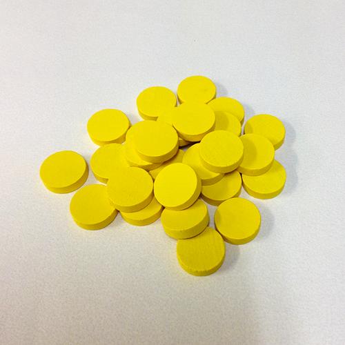 黄15mm木製ディスク(約150個)