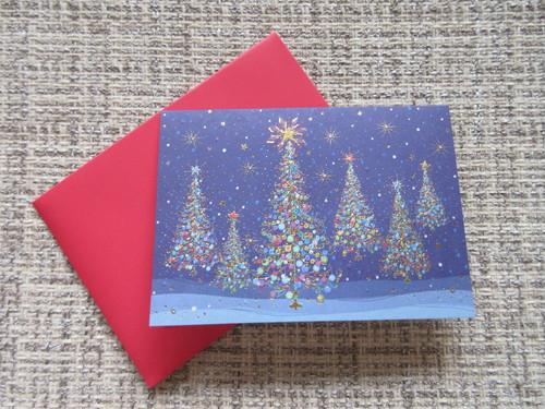 【パピルス】PAPYRUS クリスマスカード ネイビー 2枚セット