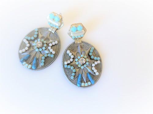 vintage pierced earrings star concho <PE-CHtq1>