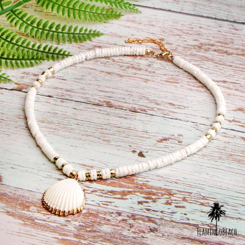 【FlamingoBeach】shell necklace ネックレス 69201