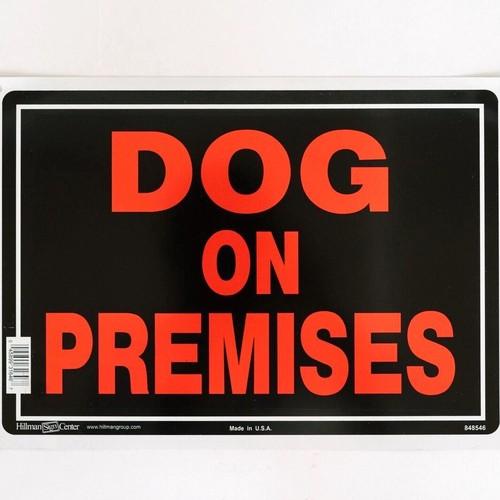 DOG ON PREMISES サインプレート