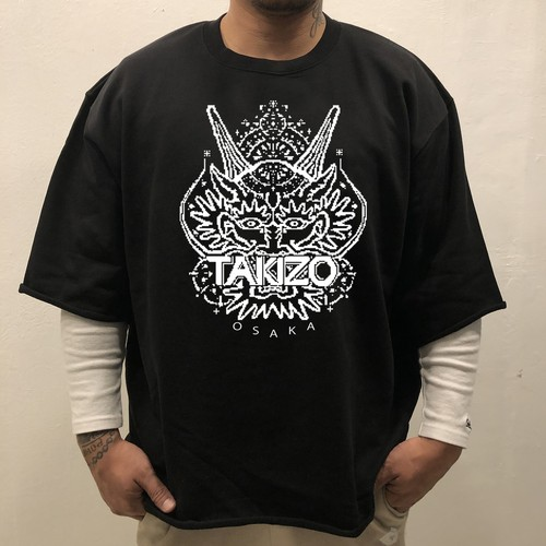 "TAKIZO ""DIGITAL DRAGON"" Half sleeve SWEAT"